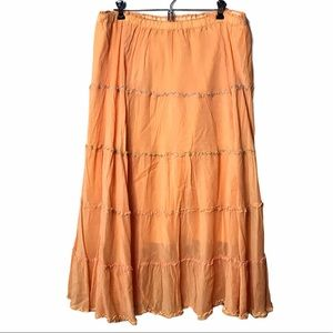 JOHNNY WAS Skirt Tiered Ruffle Boho Vintage 90's